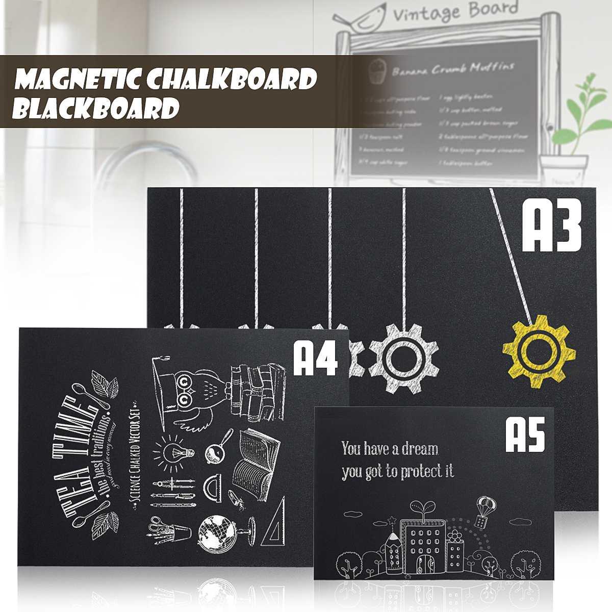 A3 A4 A5 Chalk Board Blackboard Sticker Waterproof Removable Kids Writing Board Art  Home Office School Learning Supplies