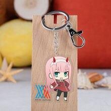 Anime darling no franxx acrílico chaveiro figura dos desenhos animados otaku acrílico pingente chaveiro