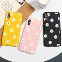 Flower Daisy Cover per Xiaomi Redmi Note 9 8 Pro 9 S 8T 5 6 7 Mi A3 A1 A2 6X 8 9 SE 10 Lite 9T Pro CC9 CC9e F1 Play custodia in TPU Etui