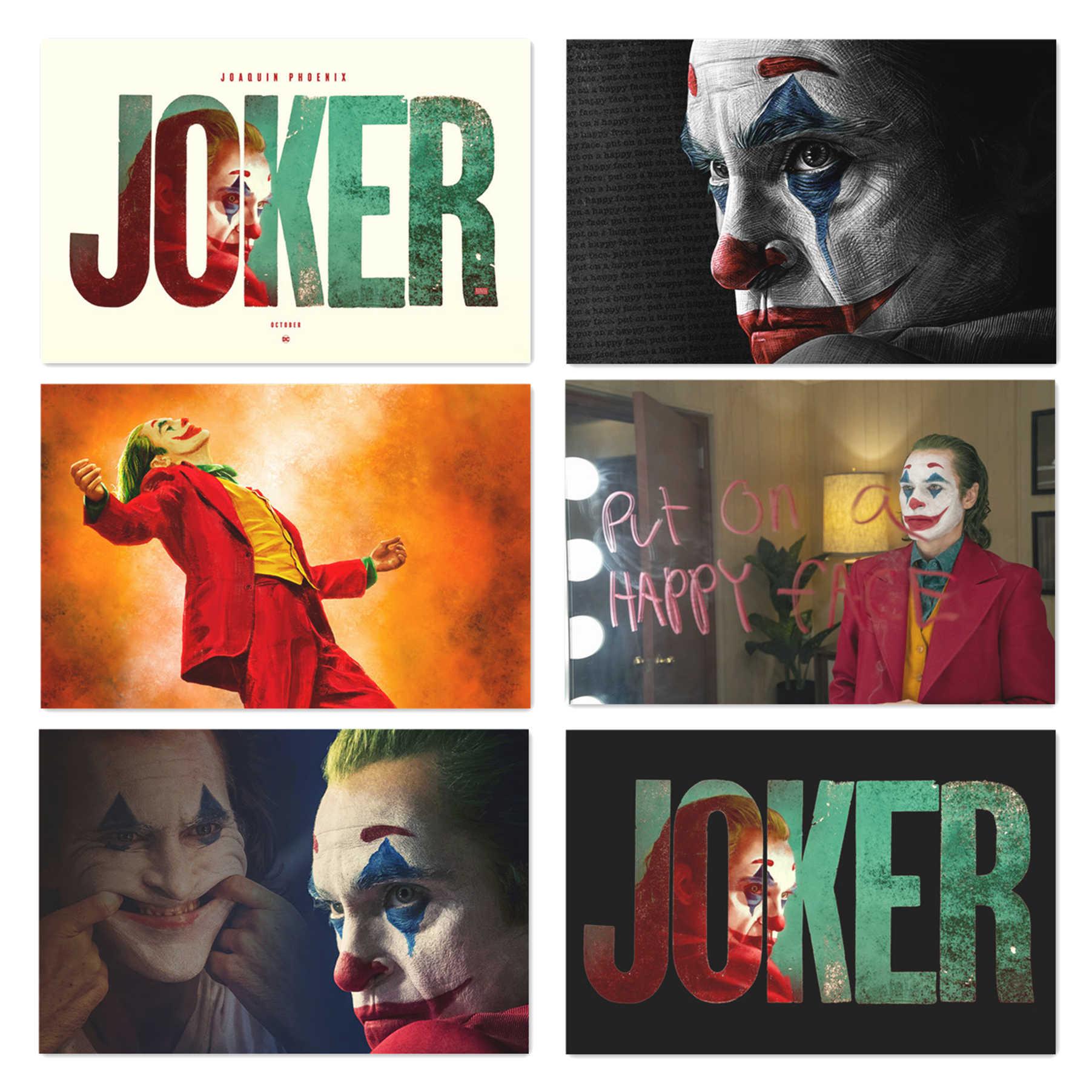 2019 New Movie Joker Silk Poster Joker Origin Movie Art Prints Comics Wall Decor