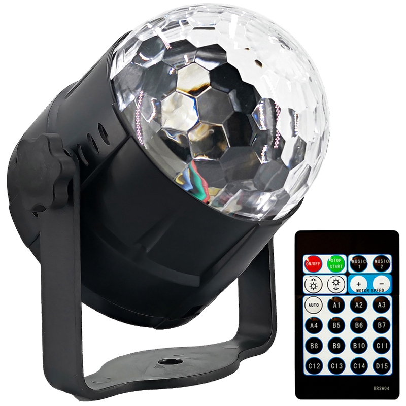 EASY-Sound Activated Party Lights Led Disco Ball Projector 15 Color With Remote Controller Stage Bar Ktv Wedding Show Pub Light
