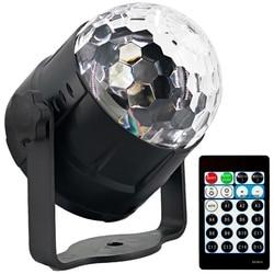 EASY Sound aktywowane oświetlenie imprezowe kula świetlna disco led projektor 15 kolorów z pilotem Stage Bar Ktv pokaz weselny Pub Light w Oświetlenie sceniczne od Lampy i oświetlenie na