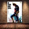 Художественный Декор Boku No Hero моя геройская Академия Горячая японская аниме Манга Обложка настенное Искусство Холст Картина шелковый посте...