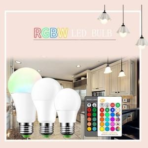 Image 5 - E27 3/5/10w 16 cores mudando magia lâmpada led rgb AC85 265V + branco controle remoto inteligente lâmpada de luz pode ser escurecido memória + ir controle remoto