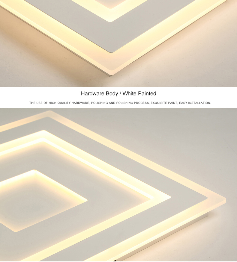 H0590aa42a9704eccbeb23d27ad3d6261q Surface Mounted Modern Led Ceiling Lights for living room bedroom Ultra-thin lamparas de techo Rectangle Ceiling lamp fixtures