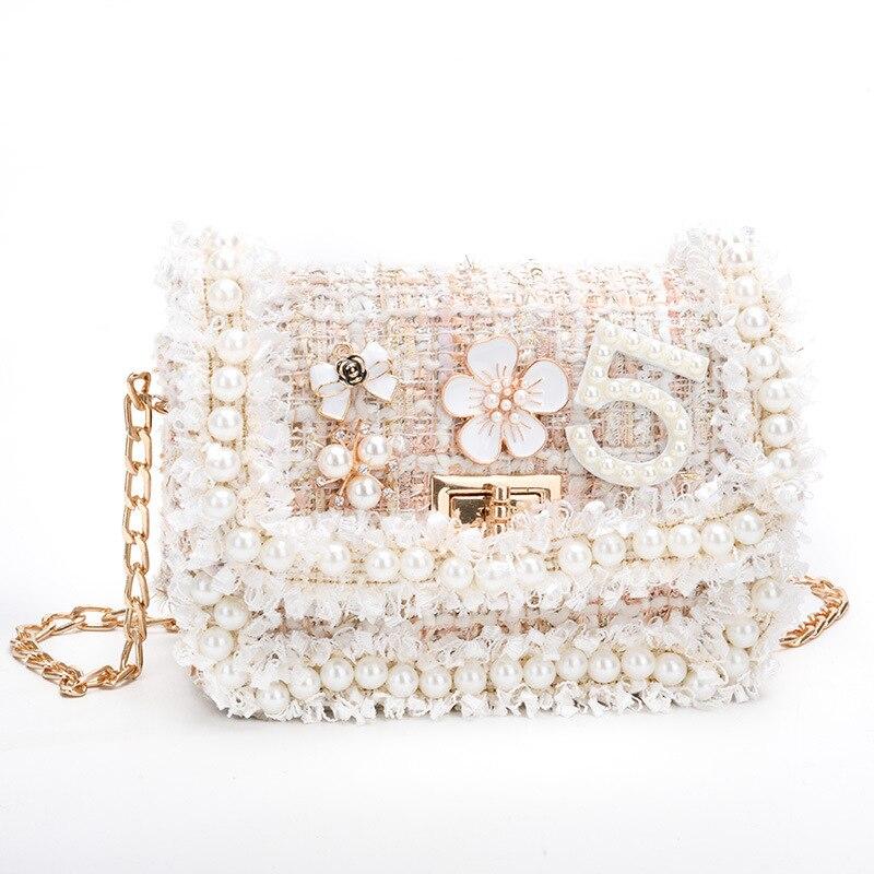 Image 2 -  グループ  上の 韓国スタイル子供のウールクロスかわいいキッドガールズプリンセス財布とハンドバッグベビーパールクラッチ財布