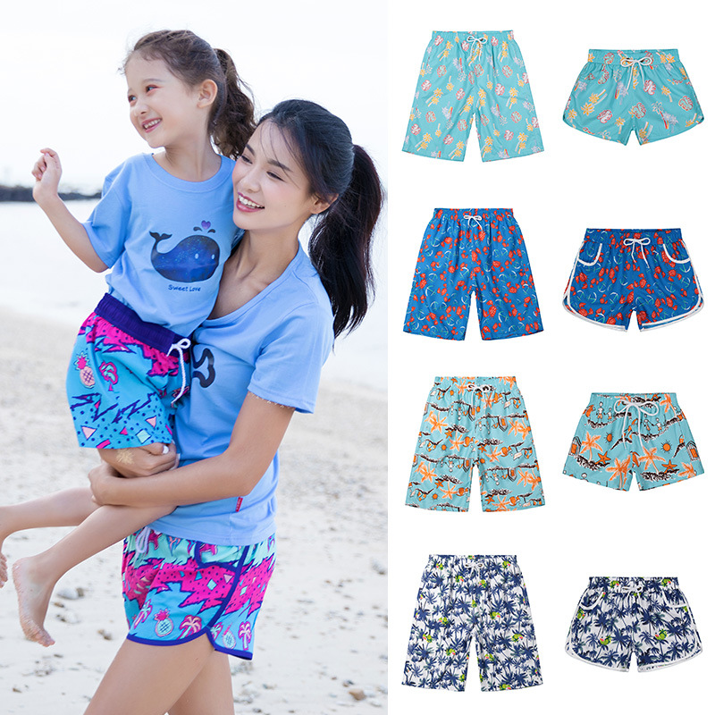 2019 New Style Couples Beach Shorts Europe And America Loose And Plus-sized Couples Beach Shorts MEN'S Beach Shorts Cross Border