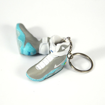 1:6 Model accessories 1st generation 3D Sneaker Shoe Keychain-Back to the Future-pendant best gifts for basketball fans