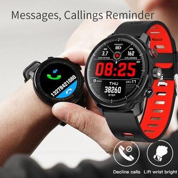 Спортивные Смарт-часы для мужчин и женщин фитнес-трекер монитор сердечного ритма Bluetooth наручные часы шагомер Водонепроницаемые Смарт-часы ...