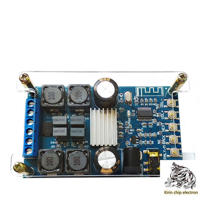 1pcs / Lot Bluetooth Digital Power Amplifier Board Dual Channel 50W * 2 Audio Amplifier Board With Shell Without Pop Sound