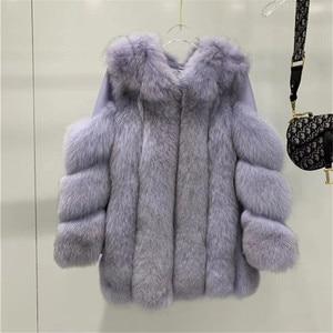 Image 2 - New Real Fox Fur Coats Women Genuine Fox Fur Thick Warm Long Jacket Fashion Winter Ladies Real Fur Overcoat Luxury