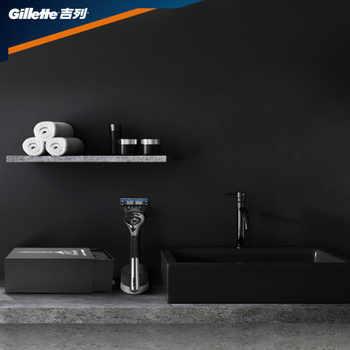 Gillette Fusion 5 PROGLIDE Metal Razors Men Shaver Machine for Shaving Blades Cassettes With Replacebale Blades No Base