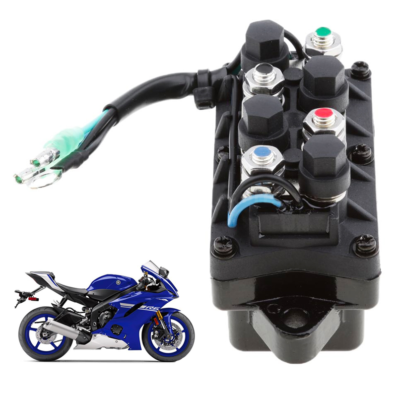 Image 5 - 1 Pcs 2 Wire Plug 12V Power Trim & Relay For 40 225HP Yamaha 4 Stroke Outboard Engine Etc Repalce 63P 81950 00 00-in Boat Engine from Automobiles & Motorcycles