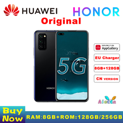 Оригинальный Honor V30 Pro смартфон 5G 8 Гб Оперативная память 128 Встроенная память 6,57 дюймов Kirin 990 SOC Octa Core Android 10 NFC 40 Вт SuperCharge