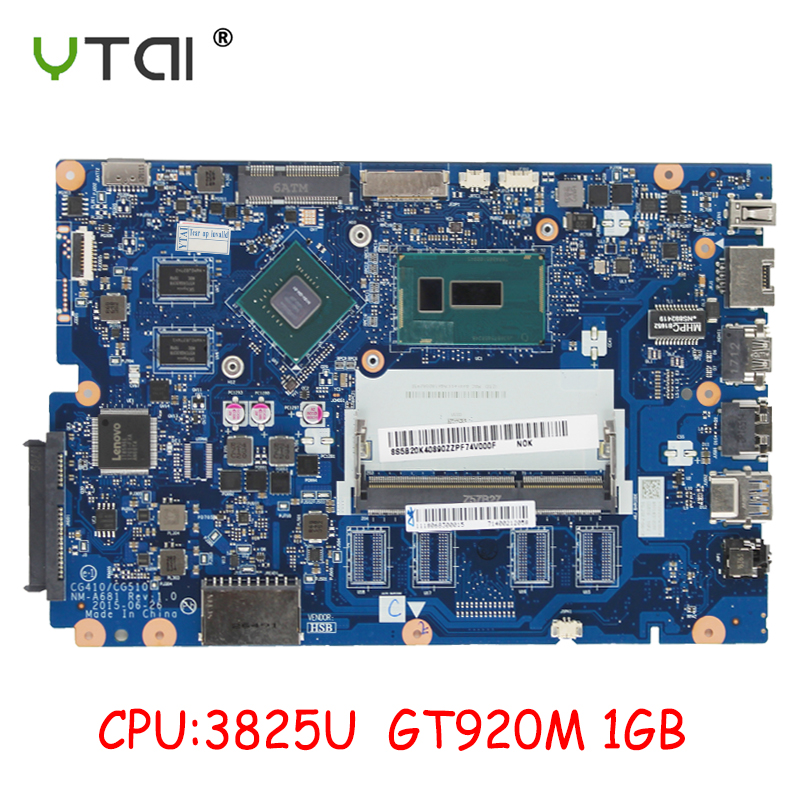CG410/CG510 NM-A681 For Lenovo 100 15IBD 100-15IBD Motherboard CPU 3825U GT920 1GB 100% Test Intact