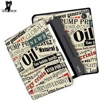 цена Case for Kobo Libra H2O Cover Case for Kobo Libra H2O 7inch  2019 e-reader e-book Smart funda capa free stylus +film онлайн в 2017 году