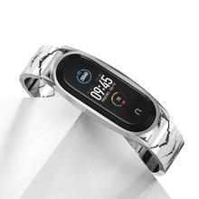 ストラップミバンド6 5 4ステンレス鋼時計バンドxiaomi miバンド5スクリューミバンド3ブレスレットmiband 4ストラップ