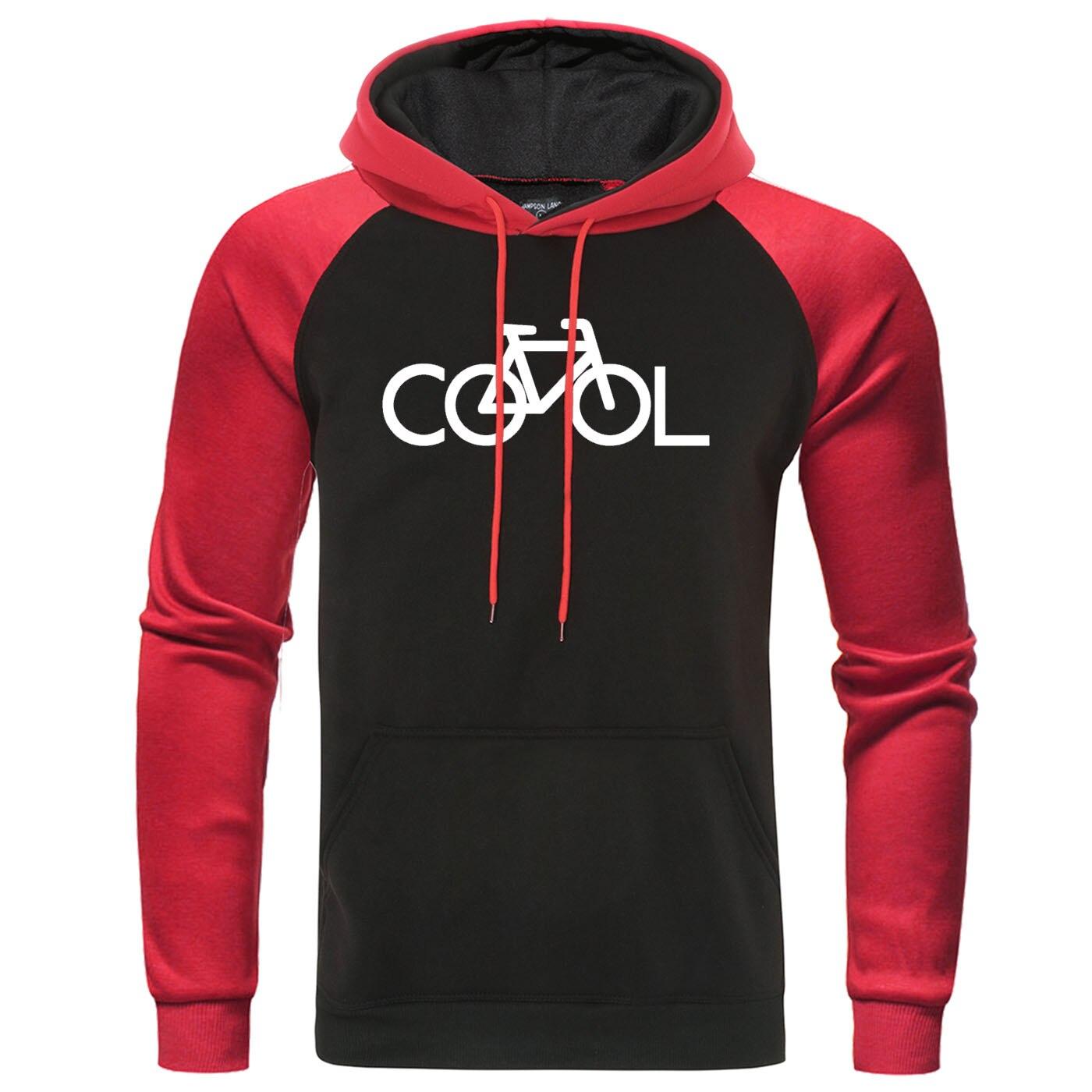 Bike It's Cool Raglan Hoodies Men 2019 Autumn Winter Hoodie Sweatshirt Man Leisure Warm Streetwear Mens Hoody Brand Pullover
