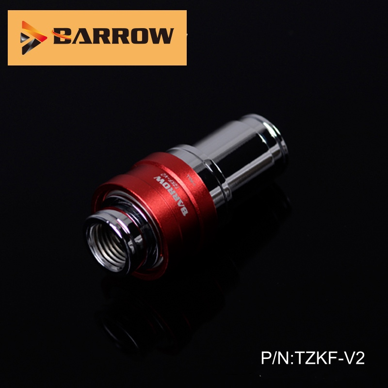 Barrow  Water Cooling Fittings Black/silver Body Sealing Quick Coupling Female Connector TZKF-V2