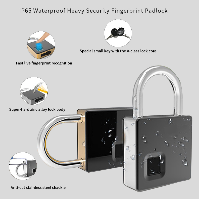Ultimate SaleSmart-Lock Door-Luggage Security IP65 Waterproof Anti-Theft Keyless with Key--Cable