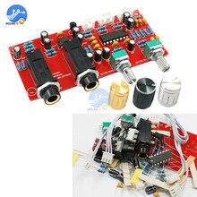 DIY PT2399 dijital mikrofon amplifikatör kurulu Karaoke plaka Reverb preamplifikatör Reverberator DC 12V 24V paketi bileşenleri NE5532