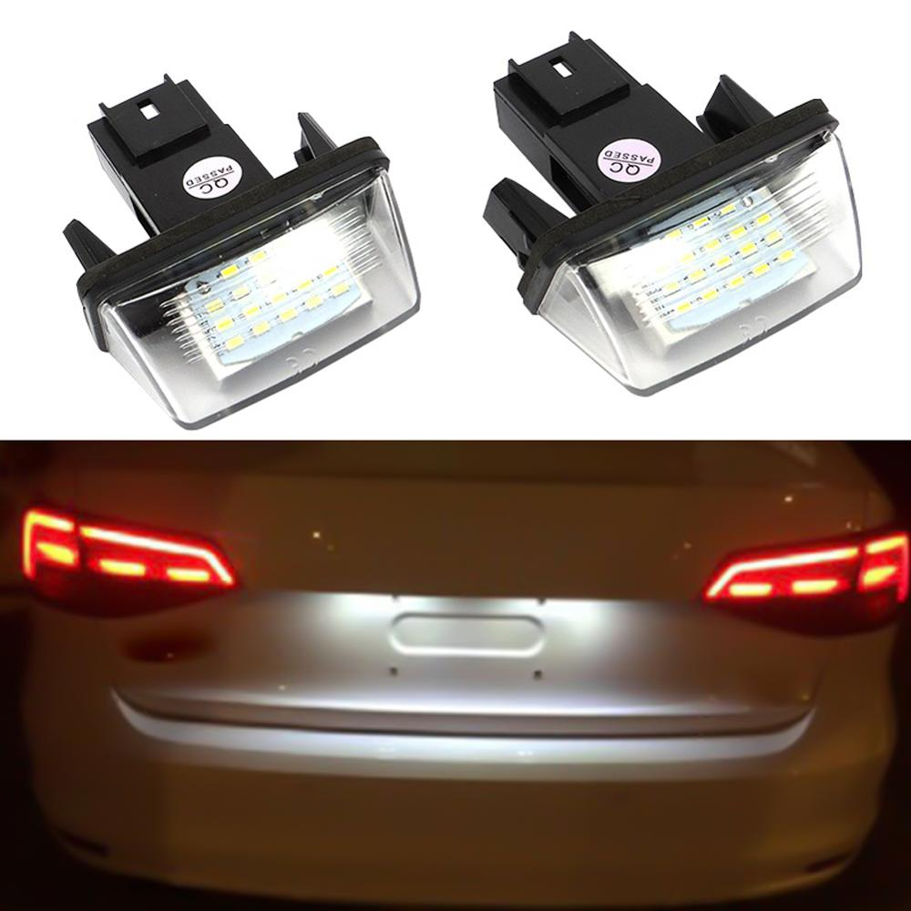 2Pcs 18 <font><b>LED</b></font> Licence Number Plate <font><b>Lamp</b></font> Light For <font><b>Peugeot</b></font> 206 207 307 <font><b>308</b></font> 406 for Citroen C3/C4 <font><b>LED</b></font> Rear Number License Plate <font><b>Lamp</b></font> image