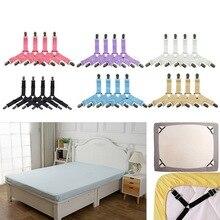 Sıcak 4 adet/takım elastik yatak çarşafı klipler jartiyer sapanlar ayarlanabilir ağır tutucu ev için yatak çarşafı klipleri