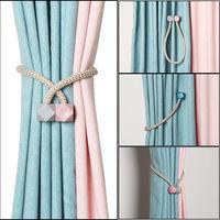 Ganchos magnéticos de Color sólido para cortinas, Clips de hebilla para decoración de sala de estar y dormitorio