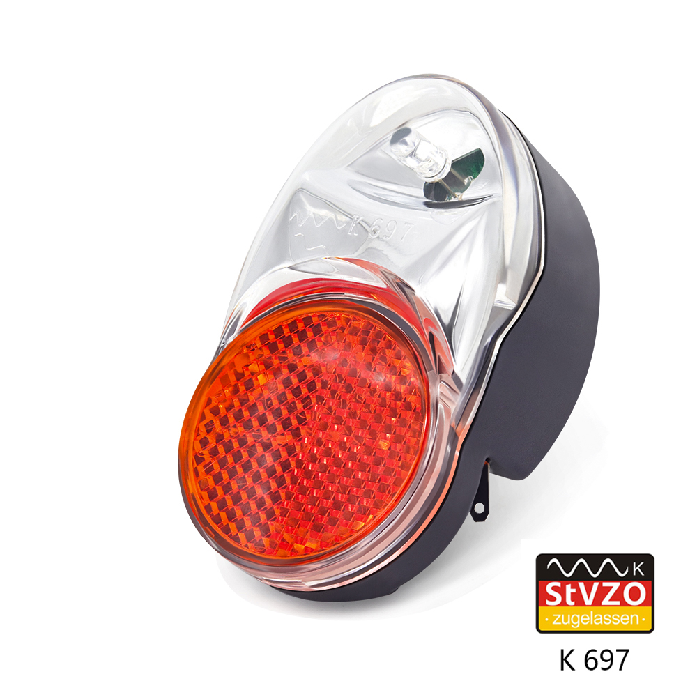 Bicycle Dynamo Light Stvzo Approved Bike Fender Mudguard Light Input AC 6V Bicycle Dynamo Tail Lamp K Mark LED Bike Rear Light