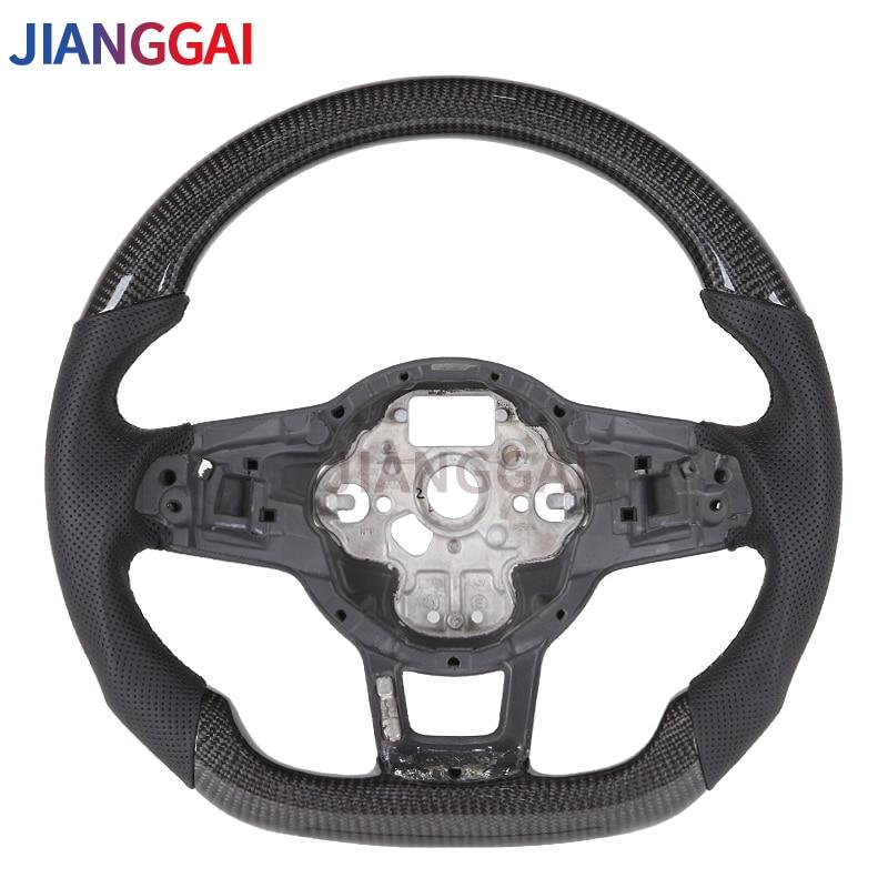 Steering Wheel Fit For Volkswagen Mk7 / VW GTI r Line 100% high-quality Carbon Fibre Steering
