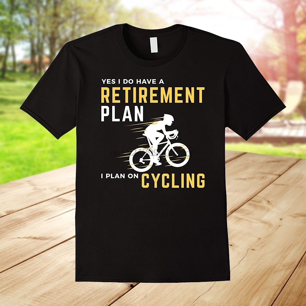 Retirement Plan Funny Bicycle Cycling Humor Graphic T-Shirt image