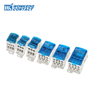 Din Rail Terminal Blocks One in several out Power Distribution Box Universal Electric Wire Connector Junction Box UKK(China)