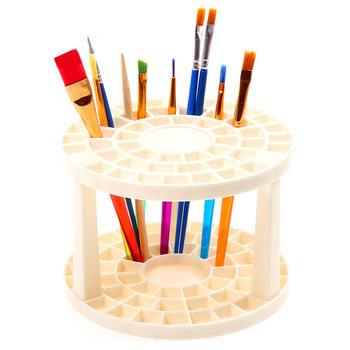 Przenośny 49 otwory pędzel ołówek stojak akwarela pędzel uchwyt na szczotki stojak materiały malarskie dla studentów Organizer na biurko tanie i dobre opinie CN (pochodzenie) Z tworzywa sztucznego Europejska ROUND XHG177 pencil holder desk organizer office accessories