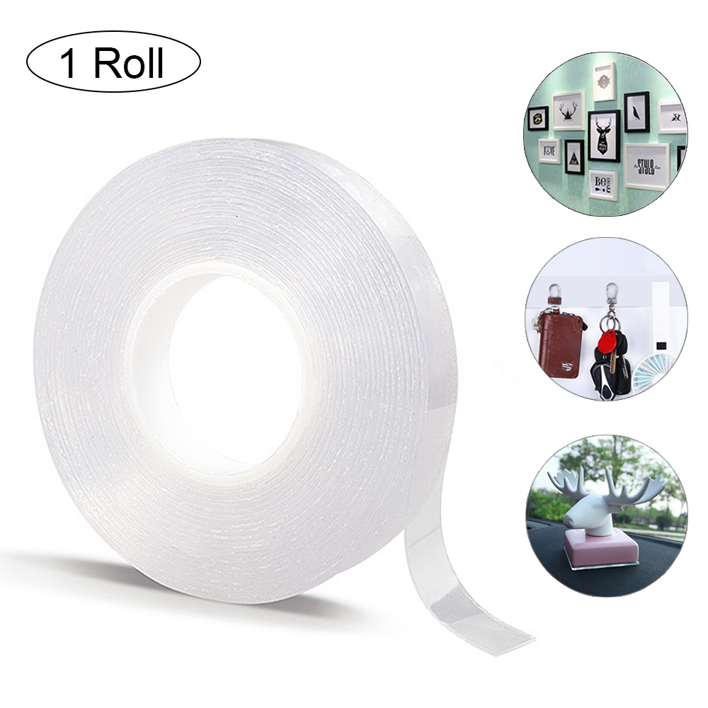 1/2/3/5m Reusable Nano Magic Tape Double-Sided Adhesive Tape Removable and Washable Adhesive Tape Home&Car Storage Fixing Tools(China)