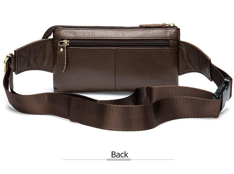 Bandolera para hombre, marrón oscuro, bolso de pecho diario, de alta calidad, de gran capacidad, bolso de hombro de cuero dividido para iPad nuevo - 5