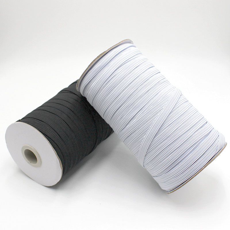 10M/lot Elastic Bands 3mm 6mm 8mm 10mm 12mm Wide Elastic Rubber Tape For Trouser Clothing Diy Home Sewing Supply Accessories