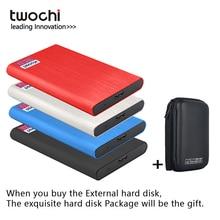 TWOCHI Metal Portable HDD Disco duro extern 160GB 250GB 320GB 500GB Storage External Hard Drive USB3.0 Disk for PC/Mac Xbox PS4