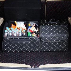 Image 2 - سيارة الجذع المنظم متعددة الأغراض بولي Leather الجلود للطي سيارة جذع صندوق تخزين أكياس تستيفها tidie لسيارة SUV