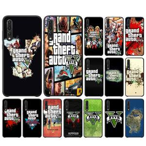 YNDFCMB Special Gta Grand Theft Auto 5 V San Andreas Phone Case for huawei P 8 9 10 20 30 40 pro lite P9 lite 2019