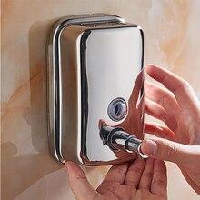 500/1000ml Liquid Soap Dispenser Stainless Steel Wall Mount Shampoo Shower Gel Bottle Bathroom Accessories