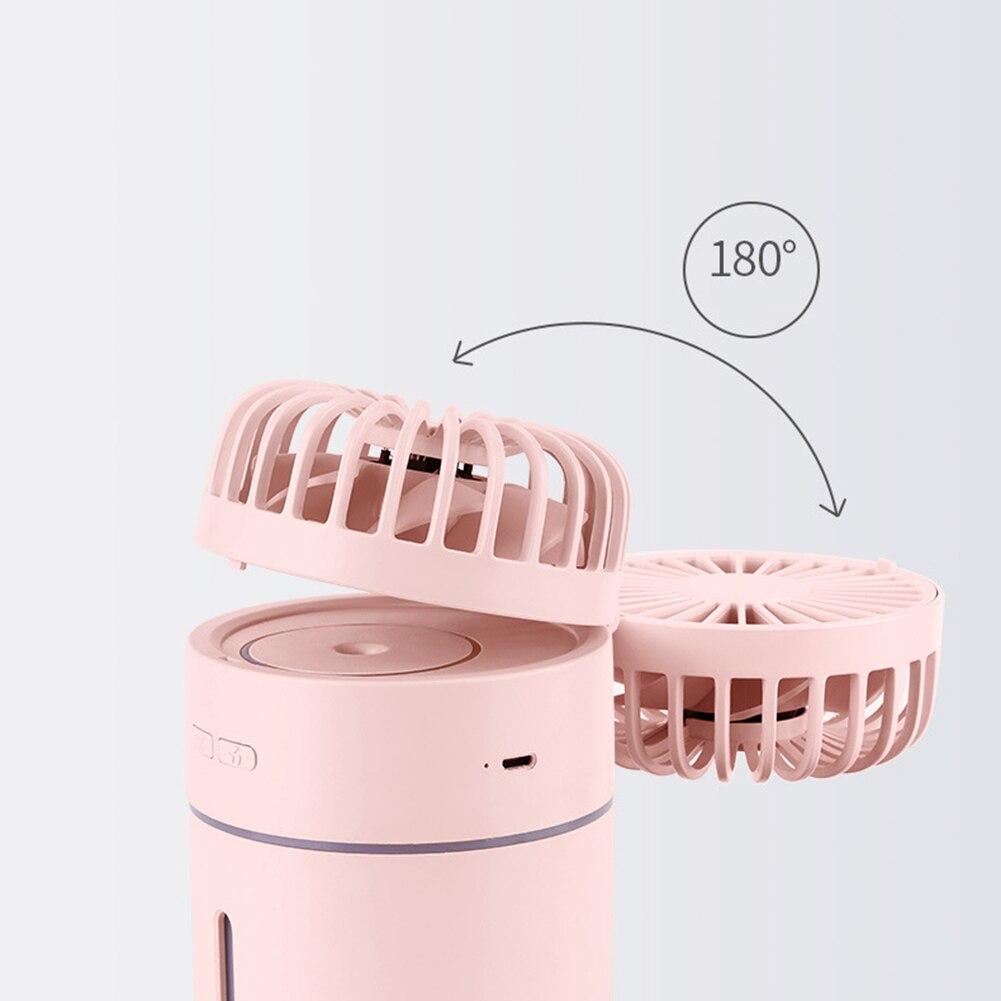 9,4*9*15,7 см вентилятор с увлажнением автомобильный офисный увлажнитель воздуха USB настольный ночник вентилятор для путешествий портативность поставки вечерние подарки - 3