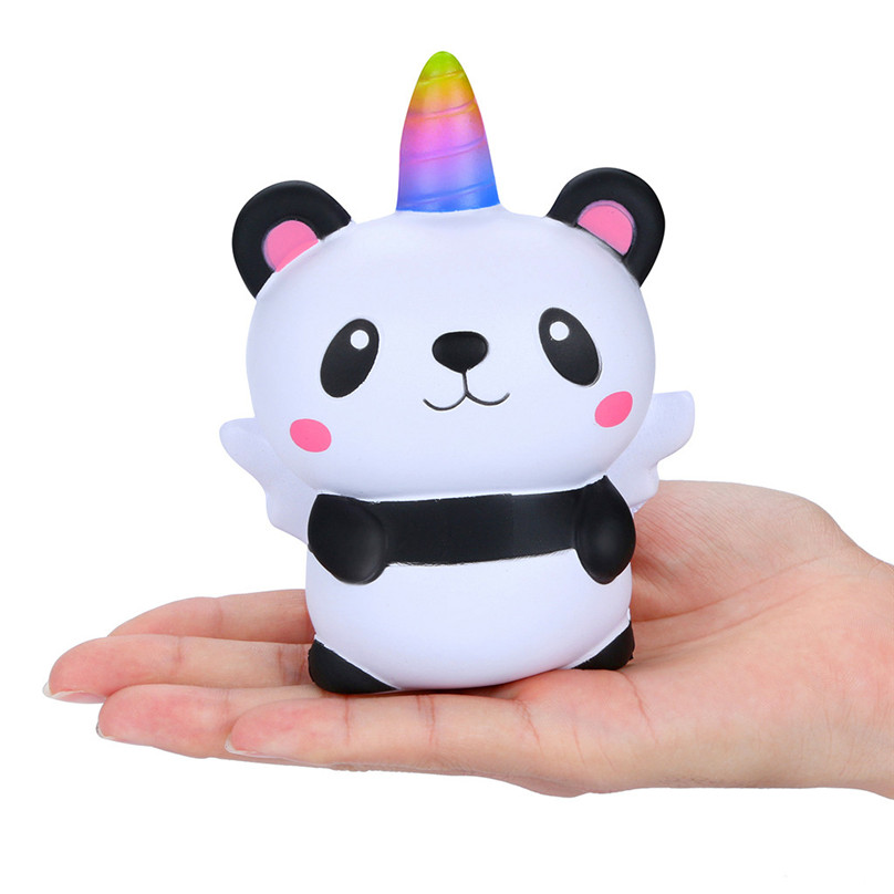 Squeeze Soft Squishies Kawaii Cartoon Panda Angel Slow Rising Cream Scented Stress Relief Toy Funny Gift 30D26