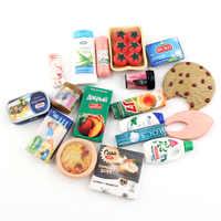 Mini supermercado en miniatura de comida, casa de muñecas, necesidades diarias, juego de cocina comida, casa para barbie, 10 Uds. Al azar, 1/6