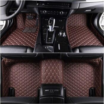 Custom Car floor mats for bmw e46 e36 e60 x5 e70 e30 f10 g30 e30 e34 e39 e90 f10 f20 f30 x1 e53 e87 x3 e83 car Accessories