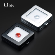 Oirlv New Black or Silver Loose Diamond Display Box  Bare drill Gift Stand Holder Jewelry Organizer Packaging for Shop Counter