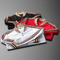 2020 Nieuwe Europese En Amerikaanse Winter Luxe Mode Mannen Casual Pak High-End Mannen Sportkleding Twee-stuk Pak