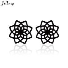 Orecchini fiore boemia donna moda nero acciaio inossidabile indiano Mandala orecchini Boho gioielli pendientes 2020