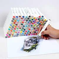 Touchfive 30/60/80/168 cores marcadores de arte álcool oleoso marcador para desenho manga escova caneta animação design arte suprimentos marcador