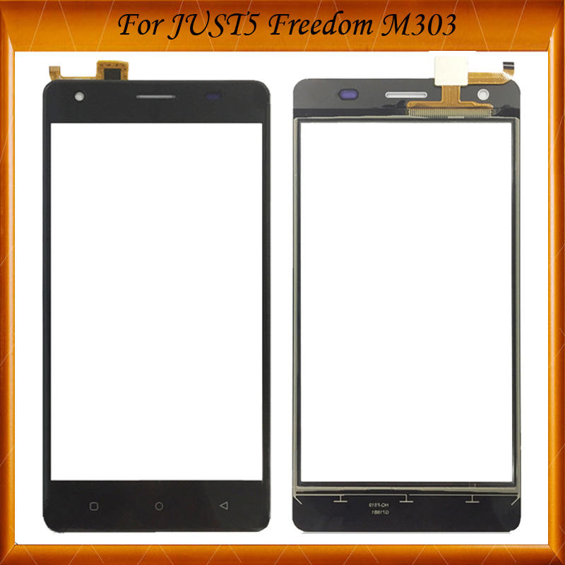 5.0Inch Gold Black White Color For JUST5 Freedom M303 Touch Screen Digitizer Glass Panel Outer Glass For JUST5 M 303 TouchScreen(China)