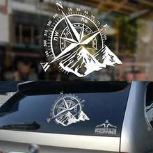 1 шт. наклейка 48x34 см компас внедорожный автомобиль наклейка и наклейка Роза навигационная виниловая наклейка авто ноутбук дверь и наклейка s капот